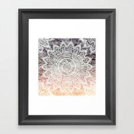 BOHEMIAN HYGGE MANDALA Framed Art Print
