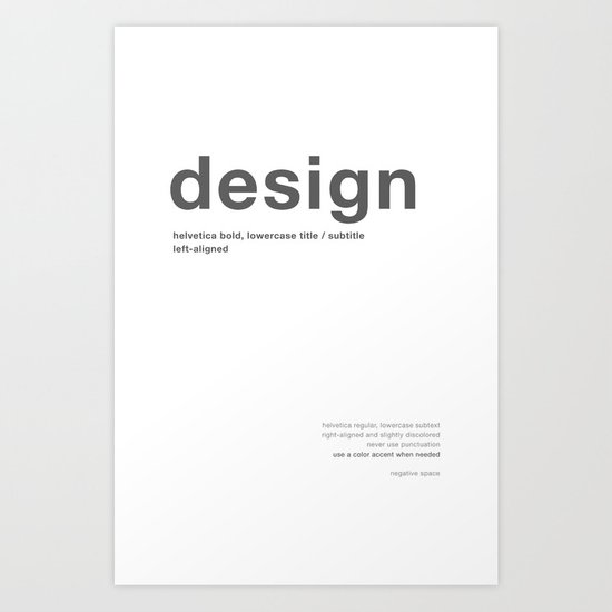 Helvetica Art Print