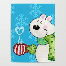 Hot Cocoa Polar Bear Poster