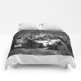 President Abraham Lincoln On His Deathbed Comforters