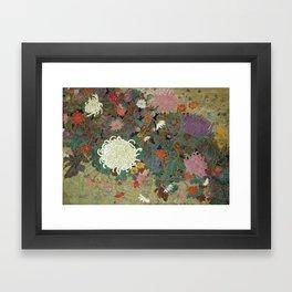 flower【Japanese painting】 Framed Art Print