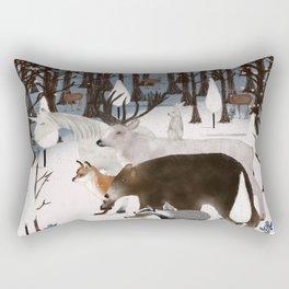 woodland nature Rectangular Pillow