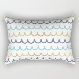 Golden Pastel Waves Rectangular Pillow