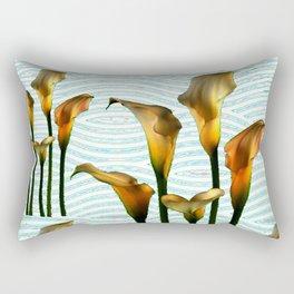 Blue Swamp Calla Lilies Rectangular Pillow