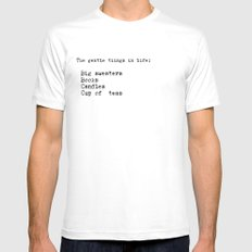 The gentle things in life:  Mens Fitted Tee White MEDIUM