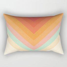 Rainbow Chevrons Rechteckiges Kissen