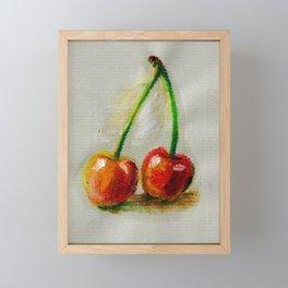 Cherries. Oil painting. Framed Mini Art Print