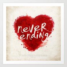 never ending love Art Print