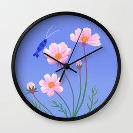 Cosmos and shrimp Wall Clock