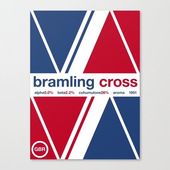 bramling cross single hop Canvas Print
