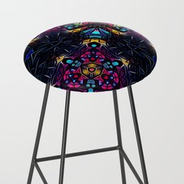 Stained Glass 3 Bar Stool