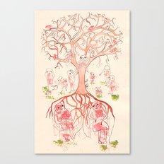 Árbol de familia Canvas Print
