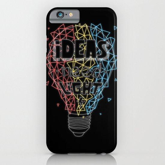 Ideas need light (black version) iPhone & iPod Case