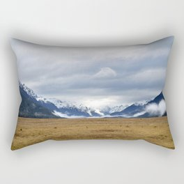 The Home of the Long White Cloud on the Road to Milford Sound Rectangular Pillow