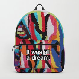 """""""It Was All A Dream"""" Biggie Smalls Inspired Hip Hop Design Backpack"""