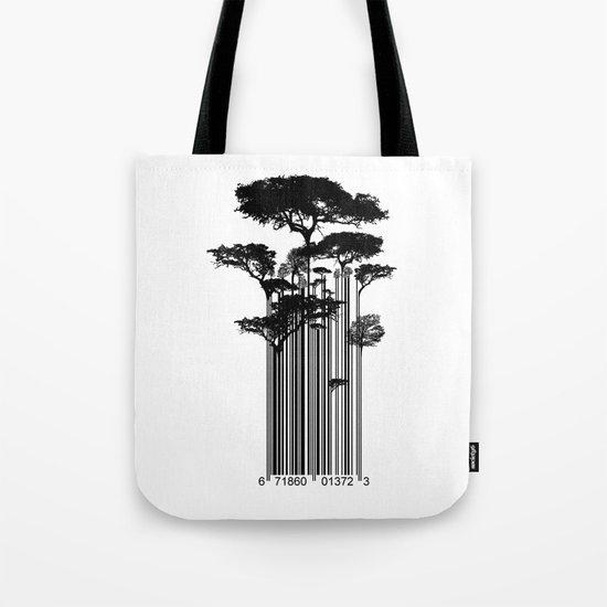 Barcode Trees illustration  Tote Bag