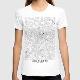 Charlotte White Map T-shirt