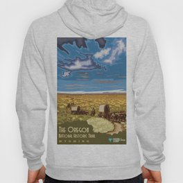 Vintage Poster - The Oregon National Historic Trail, Wyoming (2015) Hoody