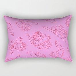 Peonies and Switchblades Rectangular Pillow
