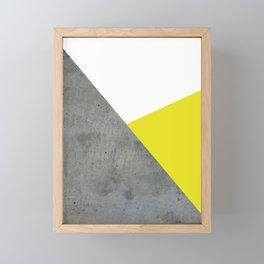 Concrete vs Corn Yellow Framed Mini Art Print