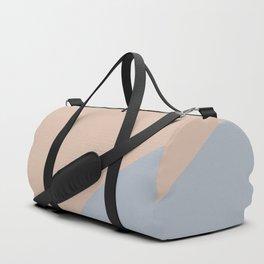 Neutral Blue Color Wave Duffle Bag