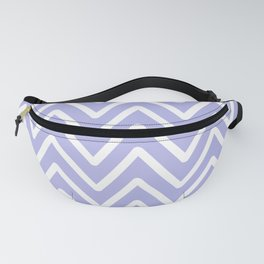Chevron Wave Blue Ultra Soft Lavender Blush Fanny Pack
