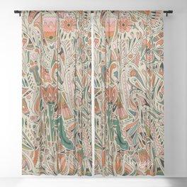 Botanical Print II Sheer Curtain