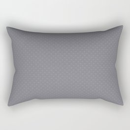 Pantone Lilac Gray Tiny Polka Dots Symmetrical Pattern Solid Color Rectangular Pillow
