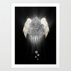 Angel of the chaos Art Print