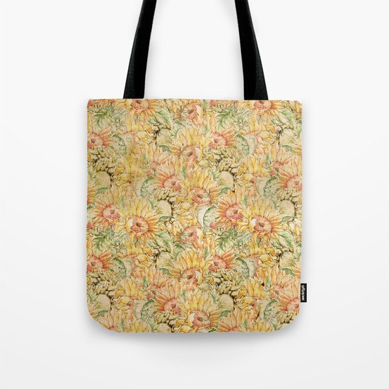 Vintage Sunflowers #1 Tote Bag
