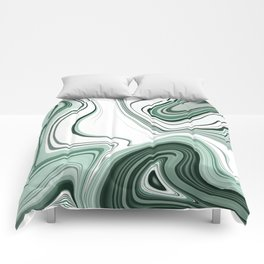 Bold Green Agate Stone Effect Design Comforters