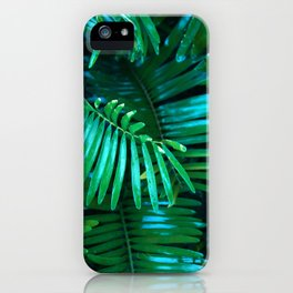 Green Palm Leaves iPhone Case