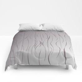 wild design exotic lines Silver Comforters
