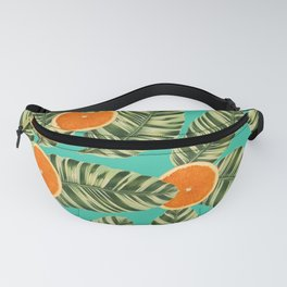 Oranges On Teal Exotic Fanny Pack