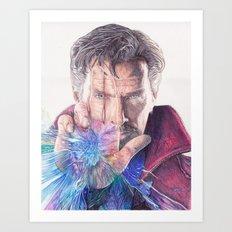 Dr Strange Pen Drawing Art Print