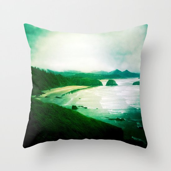 Wet and Rusting Throw Pillow