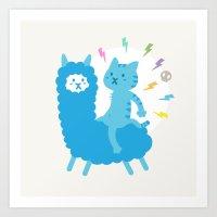 Alpaca Rider Art Print