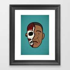 Faces of Breaking Bad: Gustavo Fring (Face-Off) Framed Art Print