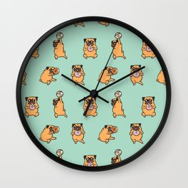 Donut Skip Legday with The Pug Wall Clock