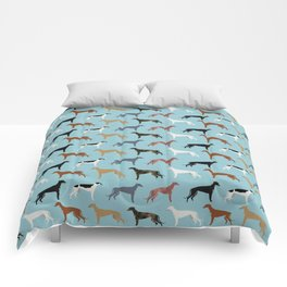 Greyhound Dog pet portrait dog lover must have gifts perfect christmas present for dog person Comforters