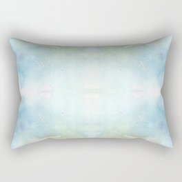 Abstract Sunrise Watercolor Texture Rectangular Pillow