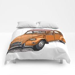 Orange 2CV Comforters