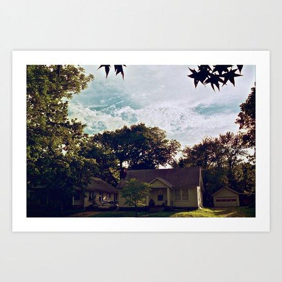 Clouds of Lawrence, Kansas Art Print