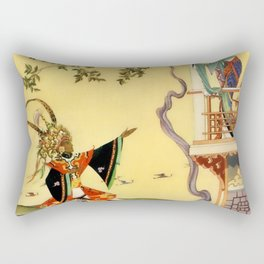 "Folk tale ""1001 Nights"" by Virginia Sterrett Rectangular Pillow"