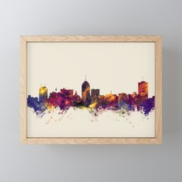 Fresno California Skyline Framed Mini Art Print