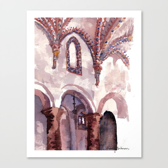To hear all the singing Canvas Print