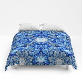 Aqua Crystal Mandala Comforters