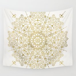 Moroccan Mandala – Gold Palette Wall Tapestry