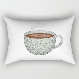queen anne's lace tea cup - coffee cup series Rectangular Pillow