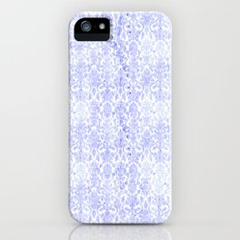 Periwinkle Damask iPhone Case